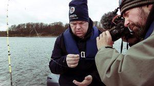 Dreharbeiten mit Danny Hrubesch