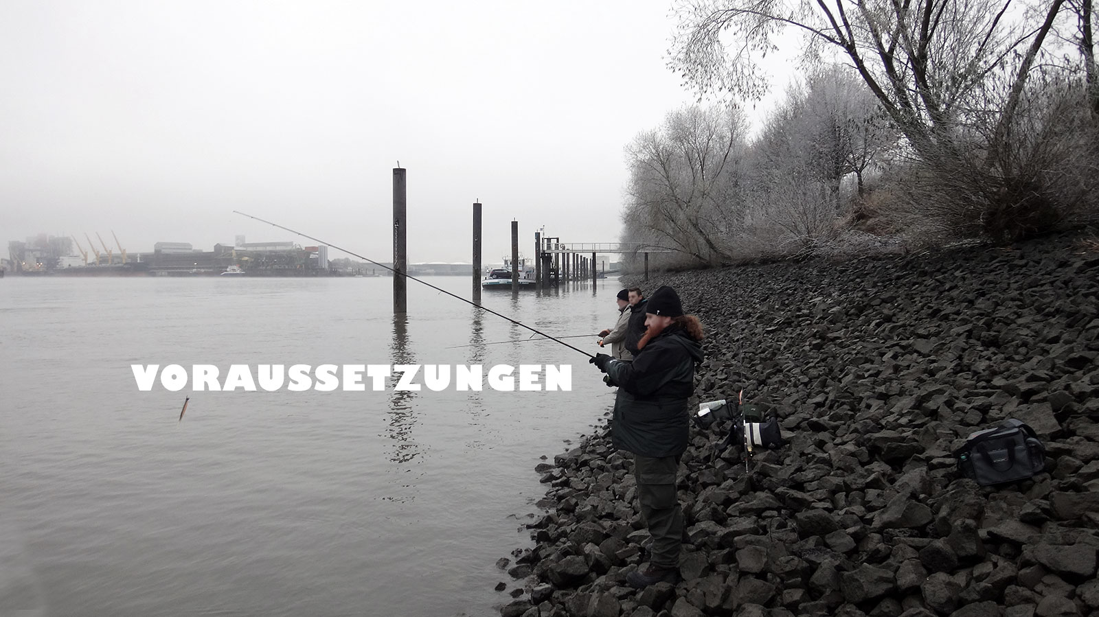 Guiding-Gruppe beim Fischen im Dezember 2016